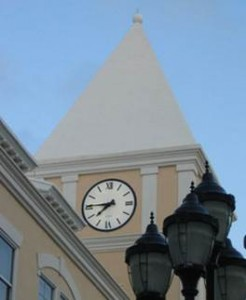 4600 Flush Backlighted Tower Clock
