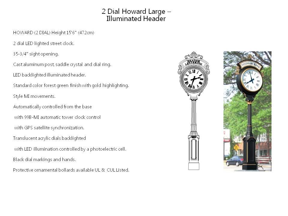 2 Dial Howard Large – Illuminated Header