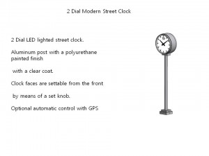 2 Dial Modern Street Clock