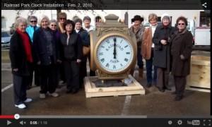 Water Valley Mississippi Street Clock Installation