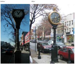 2011 Street Clock Restoration - Steinway Street - Queens New York City