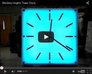 Mendota Heights, MN - LED Color Changing Clock.