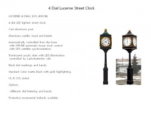 4 Dial Lucerne Street Clock