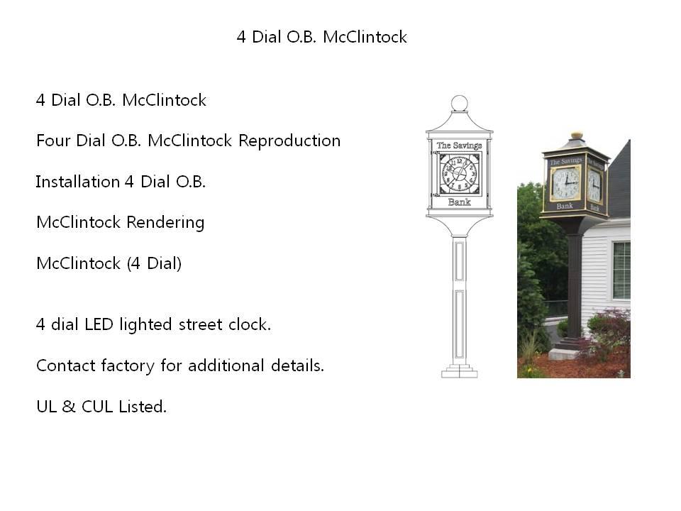 4 Dial O.B. McClintock