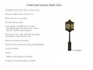 4 Dial Small Lucerne Street Clock