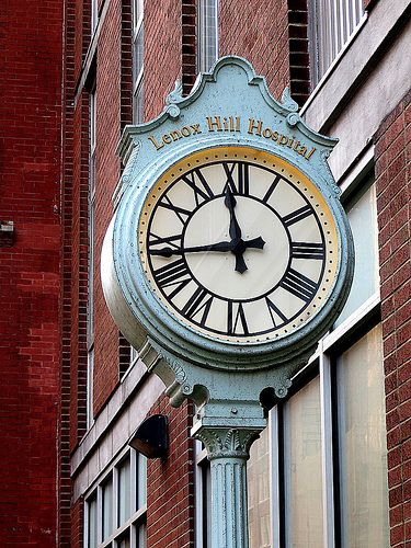 Lenox Hill Hospital clock, 100 East 77th