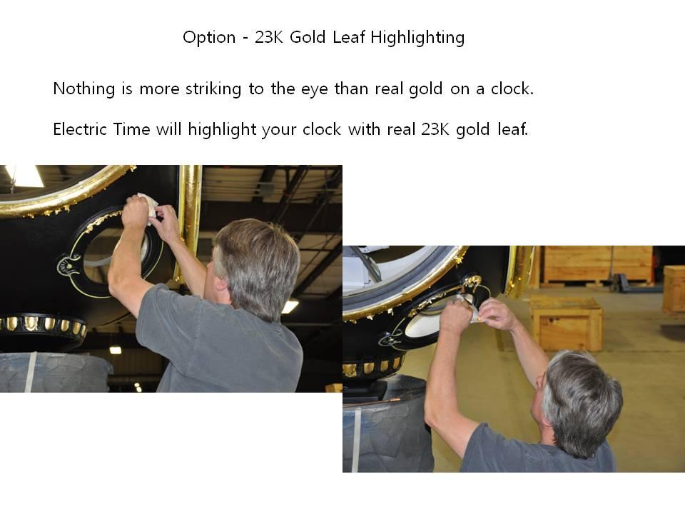 Option - 23K Gold Leaf Highlighting