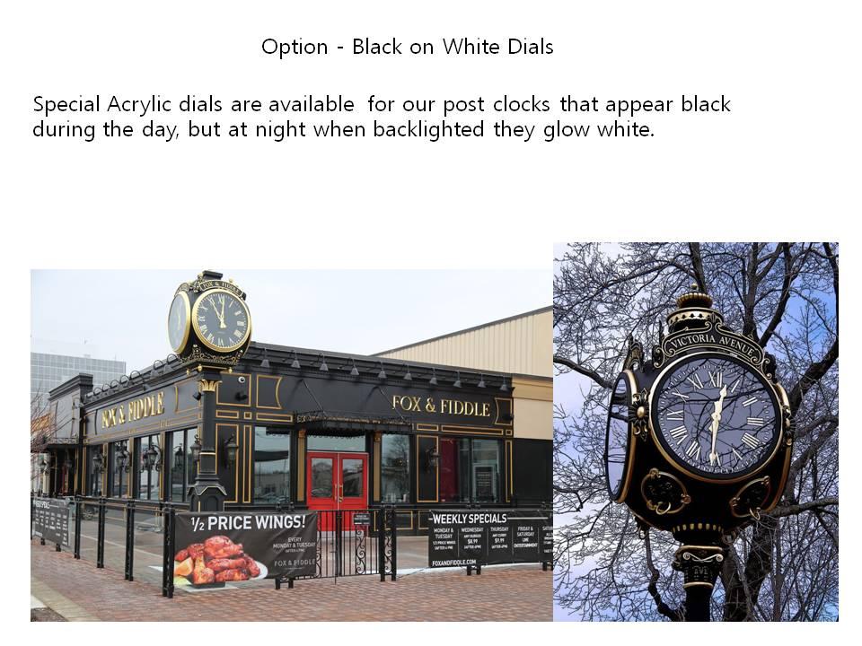 Option - Black on White Dials