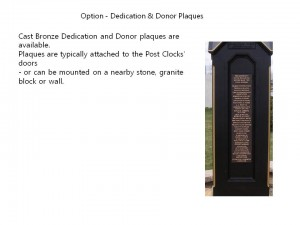 Option - Dedication & Donor Plaques