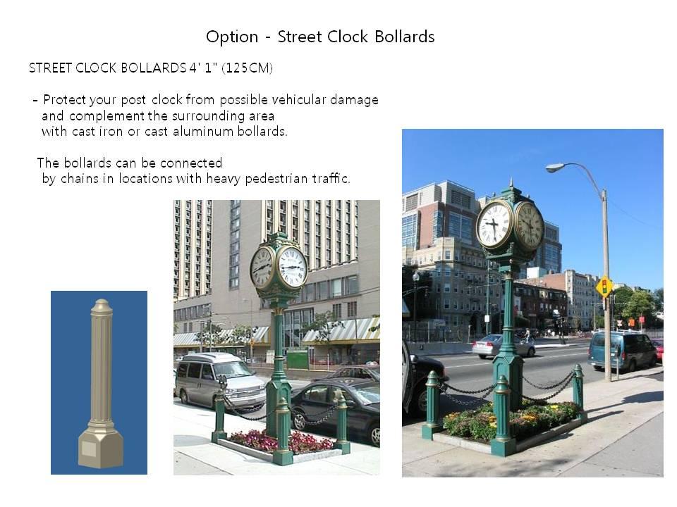 Option - Street Clock Bollards