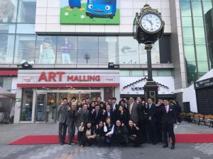 패션 그룹 형지 최병오 회장, 아트몰링 장안점 시계탑 제막식