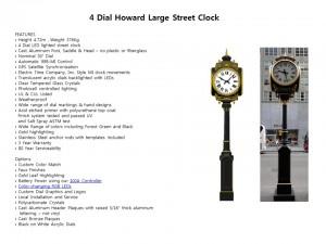 4 Dial Howard Large Street Clock